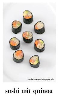sushi selber machen, gesunde sushi, quinoa rezept, foodblog schweiz