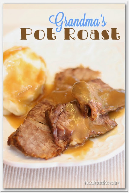 Pot Roast from family recipes on a plate