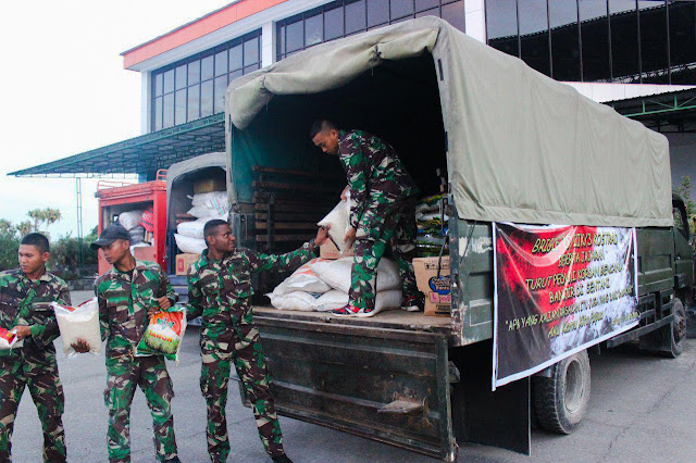 Peduli Banjir Sentani, Brigif 20 Kostrad Kirim Sembako Ke Jayapura
