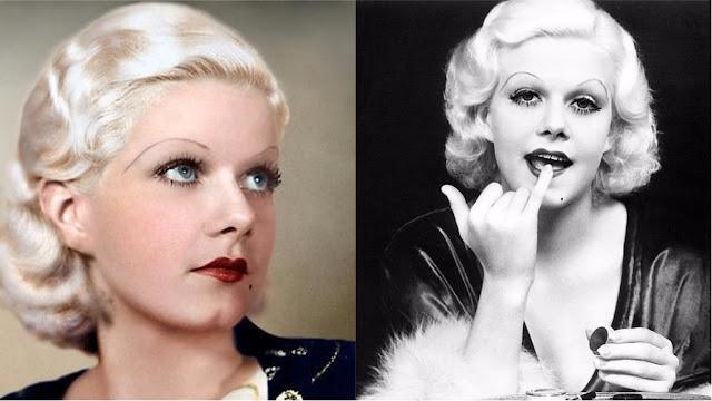 jean harlow makeup 1930s