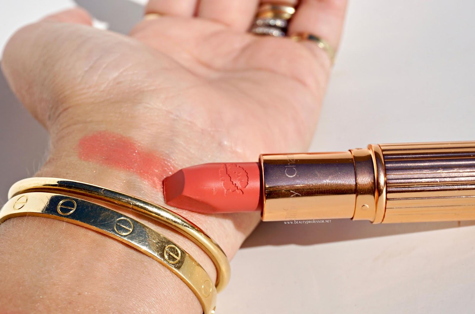 Charlotte tilbury sunset lover swatches