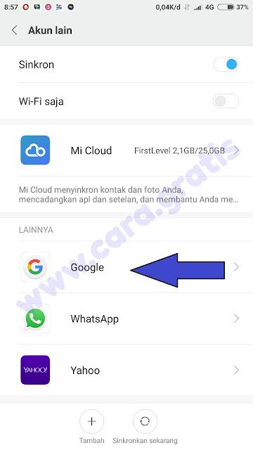 Klik Google Xiaomi