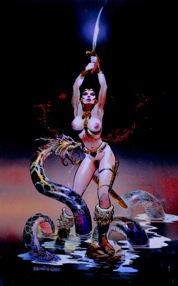 Caçando Serpentes - Obras de Boris Vallejo ~ O melhor no campo da fantasia - Peruano