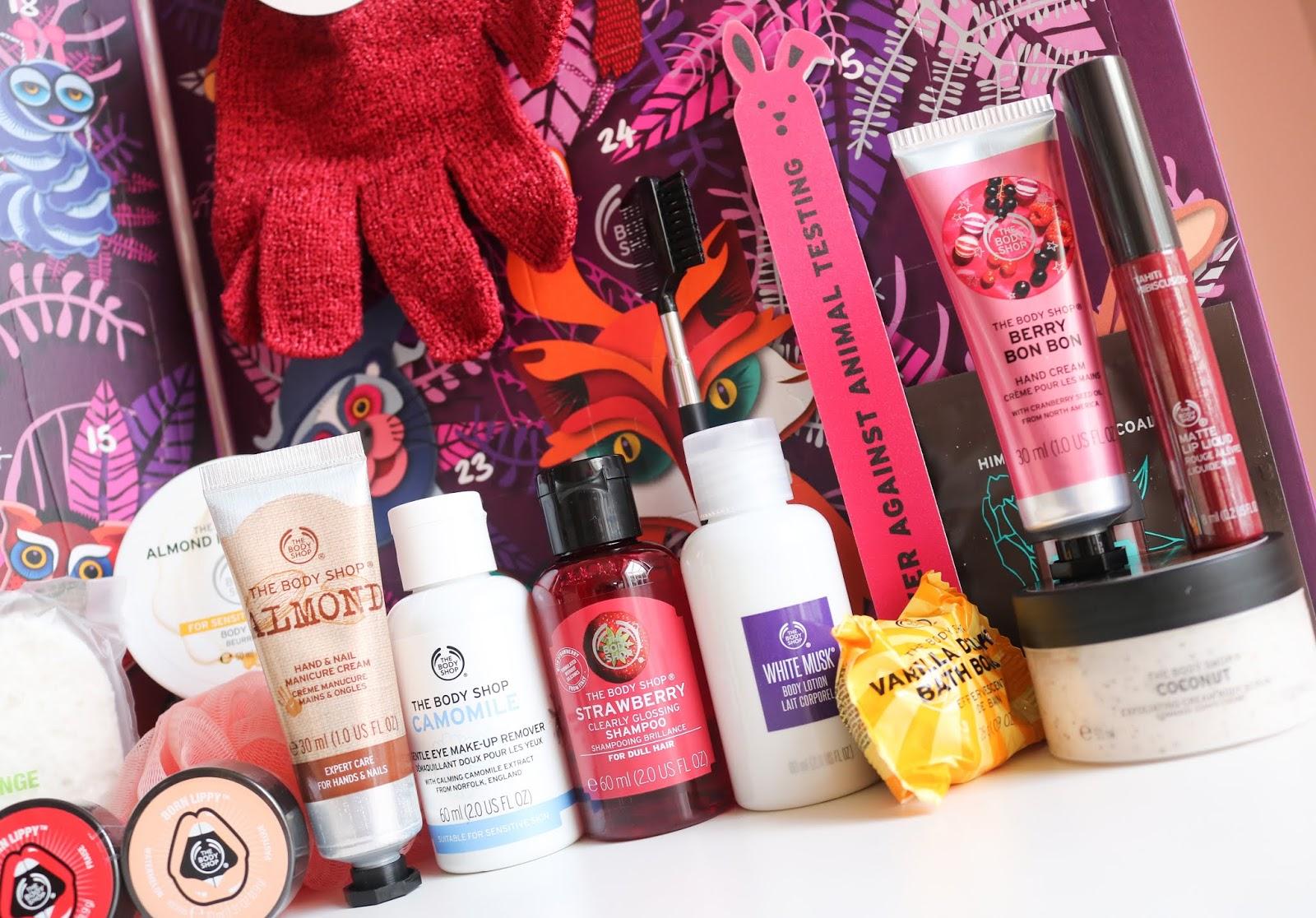 The Body Shop 24 Days Of Enchanted Advent Calendar I Am Strawberry Bath Bomb 28g Butter Almond Milk Honey 50ml