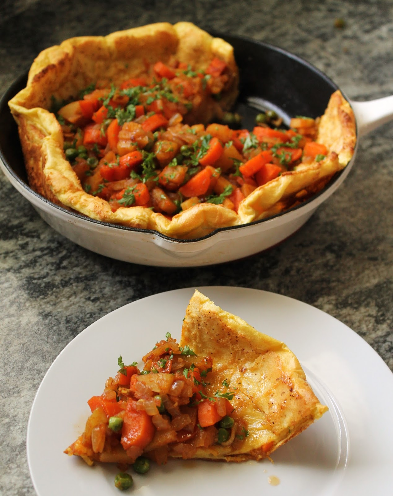 37 Cooks: Buttery Dutch Baby with Berbere Vegetables