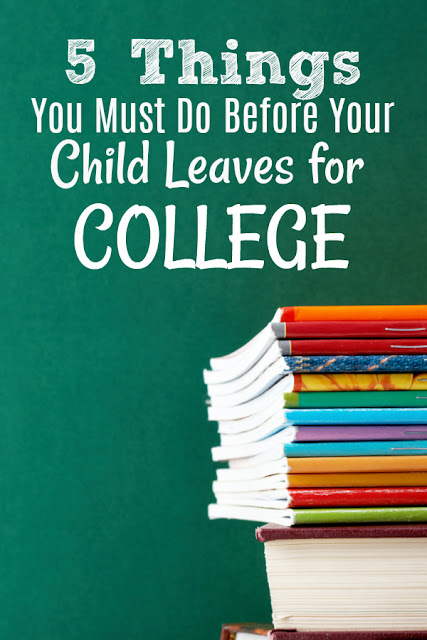 Is your son or daughter headed off to college? Put these 5 must-do activities on your list!