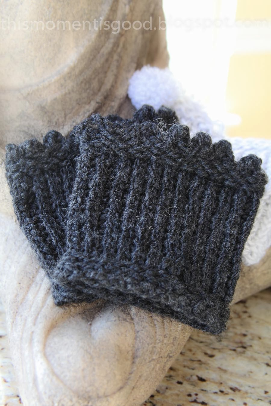 Loom Knit Picot Edged Boot Topperscuffs Loom Knitting By This