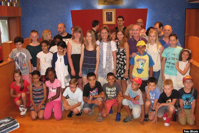 Niños acogidos por Bikarte y Salam