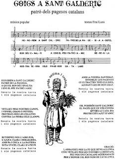 Esguard de Dona - Document imprès per poder cantar els Goigs de Sant Galderic durant la celebració de la Festa de la Verema i el Most. Document aportat pel Sr. Lluís Urgell i Montserrat