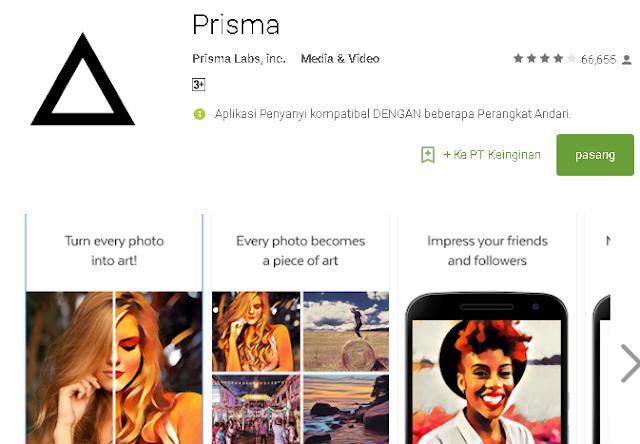 Aplikasi Prisma Android