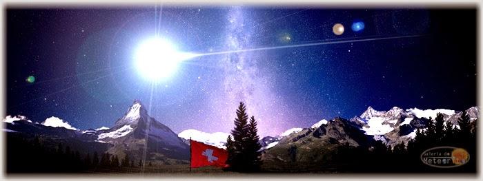 meteoro bola de fogo Suíça 15 de março