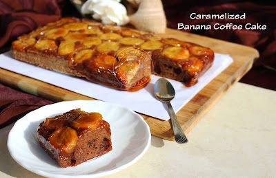 caramelized banana cakes moist yummy coffee cake plantains recipes christmas cakes simple caramel recipes brown sugar cake recipes cupcakes ayeshas kitchen
