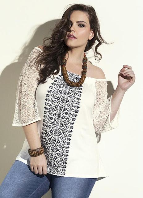 Blusa Estampada Branco Wee