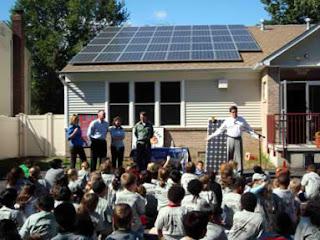 solar panels installation in school