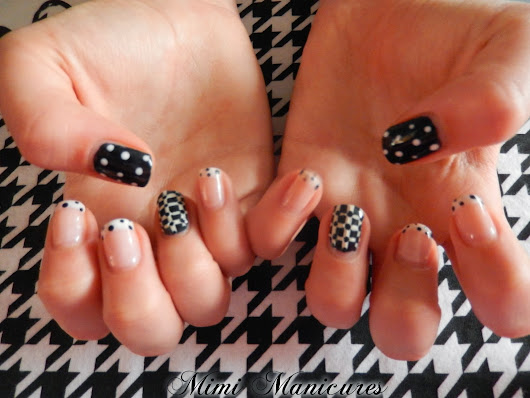 French Dotty Madness done in gel polish