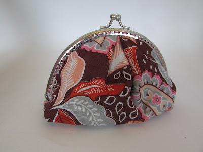 DIY costura monedero boquilla metálica con fondo y frunces