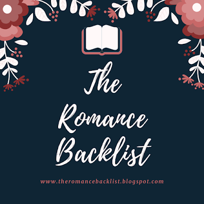 "Image description: blue logo with the words ""the romance backlist"" on it."