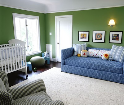 Nursery Of The Week Blue And Green With A Sweet Daybed