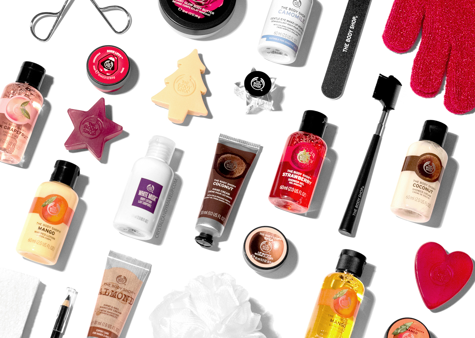 The Body Shop 24 Days Of Beauty Holiday 2017 Advent Calendar Review Content