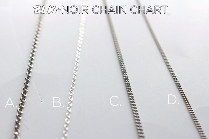 BLK AND NOIR CHAIN CHART