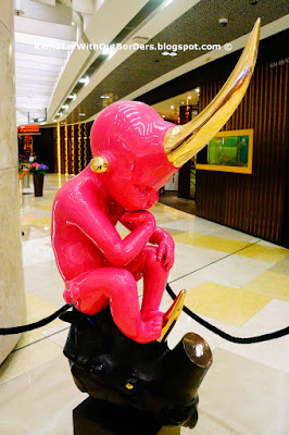 The Little Big Thinker Sculpture by Pierce Matter, ION Orchard Shopping Mall, Singapore