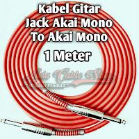 Kabel Gitar Jack Akai Mono To Akai Mono Stainless 1 Meter