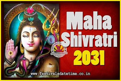 2031 Maha Shivaratri Puja Date & Time, 2031 Maha Shivaratri Pooja Calendar
