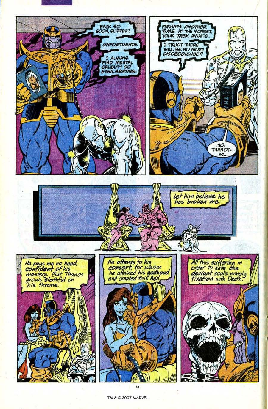 Read online Silver Surfer (1987) comic -  Issue #56 - 16