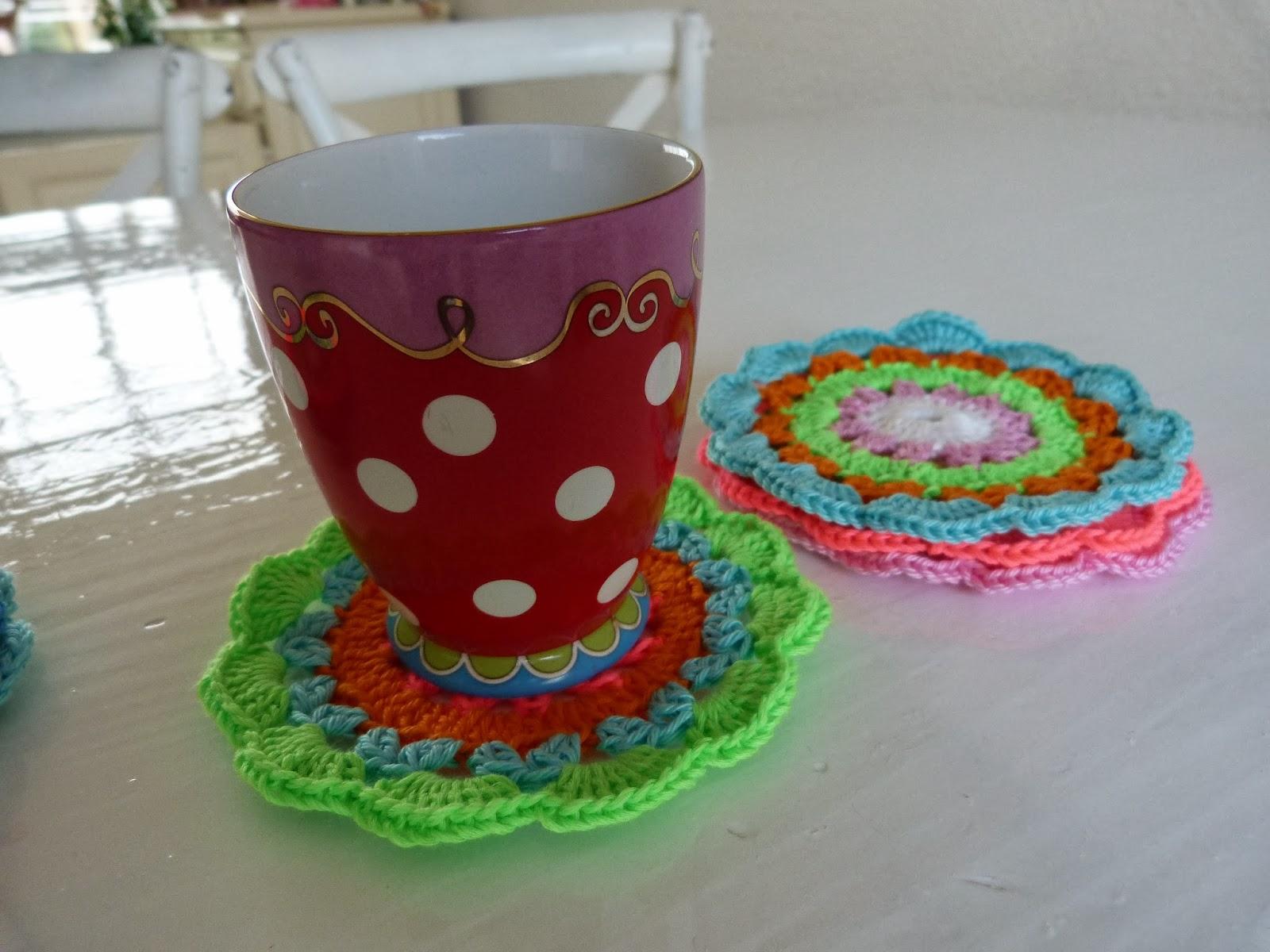 Ilonas Blog Dollies Haken Onderzetters Crochet Dolly Coasters
