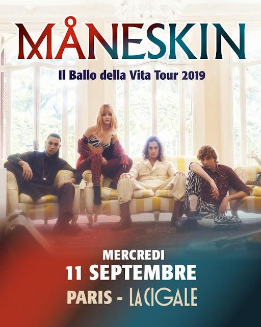 Les italiens de Måneskin seront en concert le 11 septembre à La Cigale à Paris.