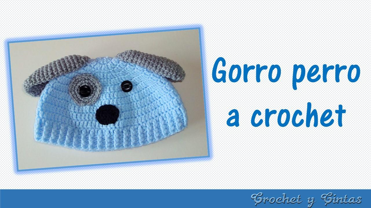 Gorro perrito tejido a crochet para niños ~ Crochet y Cintas 3ab8393f059