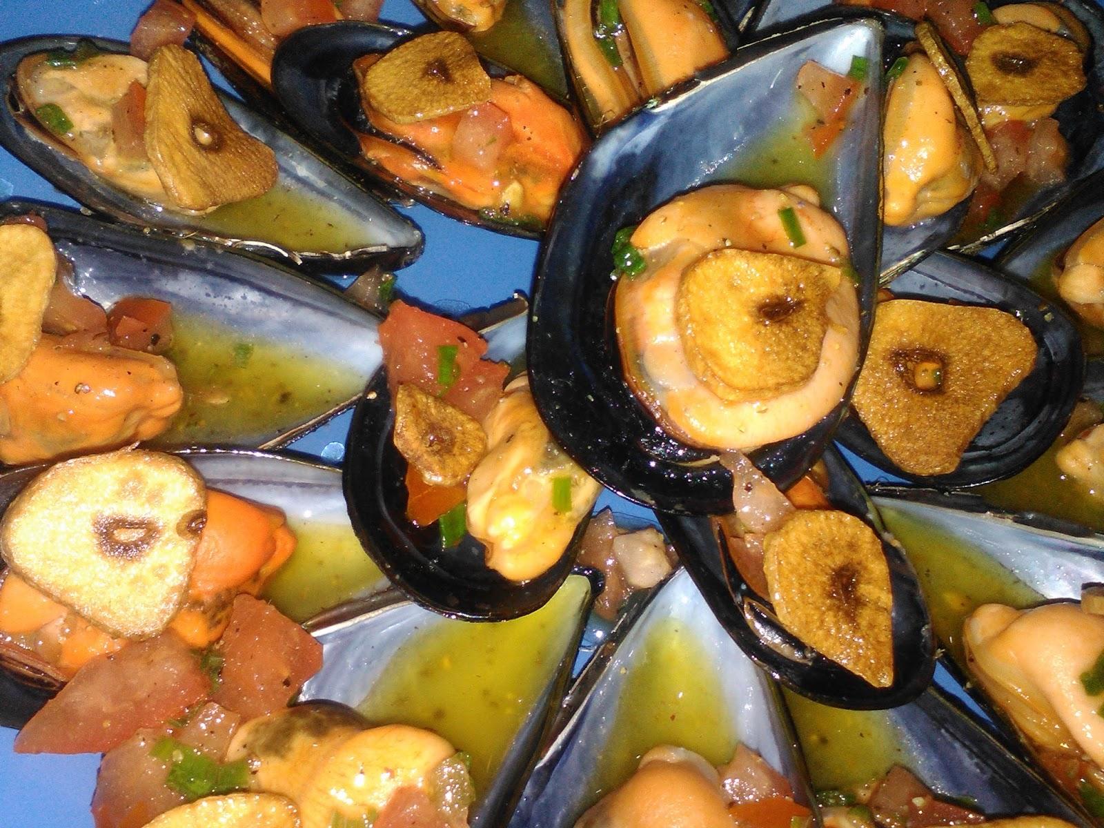 La cocina violeta de carol mejillones con pimienta y for Cocina hermanos torres