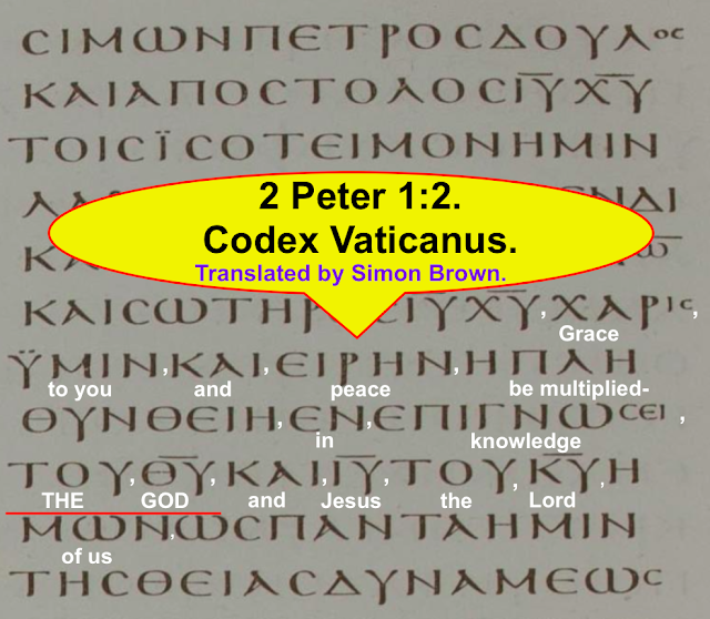2 Peter 1:2. Codex Vaticanus. Translated by Simon Brown.