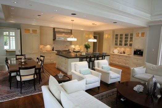 C mo integrar la cocina y el sal n cocina y muebles for Salon cocina moderno