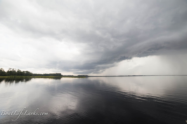 Rain Cloud over ICW Anchorage, NC