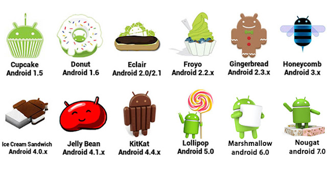 different versions of android
