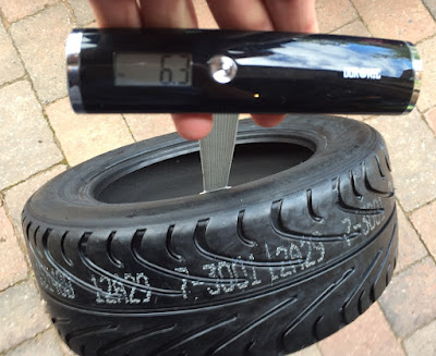 Front AVON CR500 (175/55R13) weighed in at 6.3kg