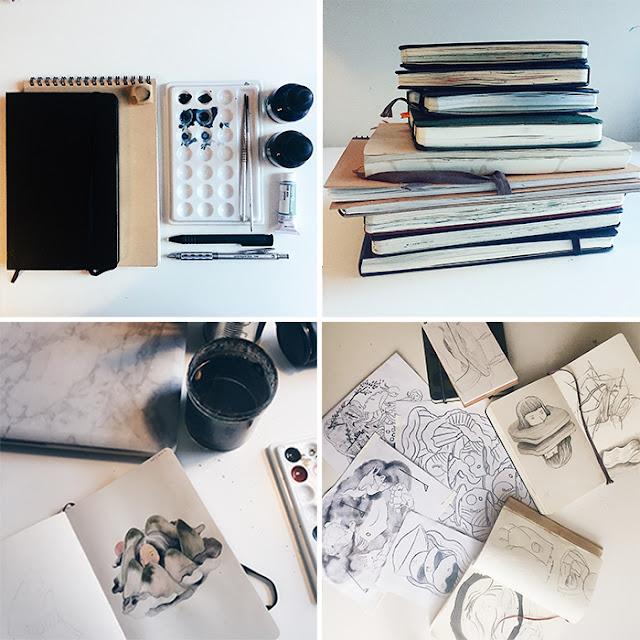 Jesse Zhang, Sketchbook Conversations, sketchbooks, My Giant Strawberry