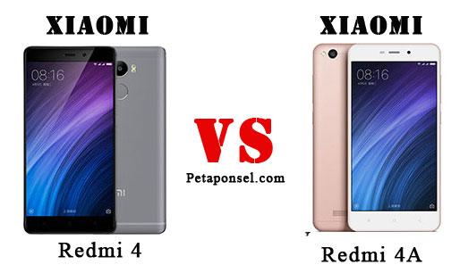 Perbandingan Redmi 4A VS Redmi 4