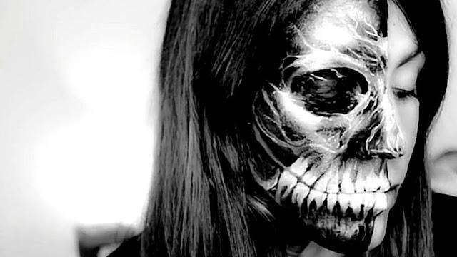 Halloween makeup maquillaje tutorial calavera black skull xray