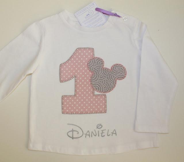 camiseta cumpleaños 1 año mickey mouse