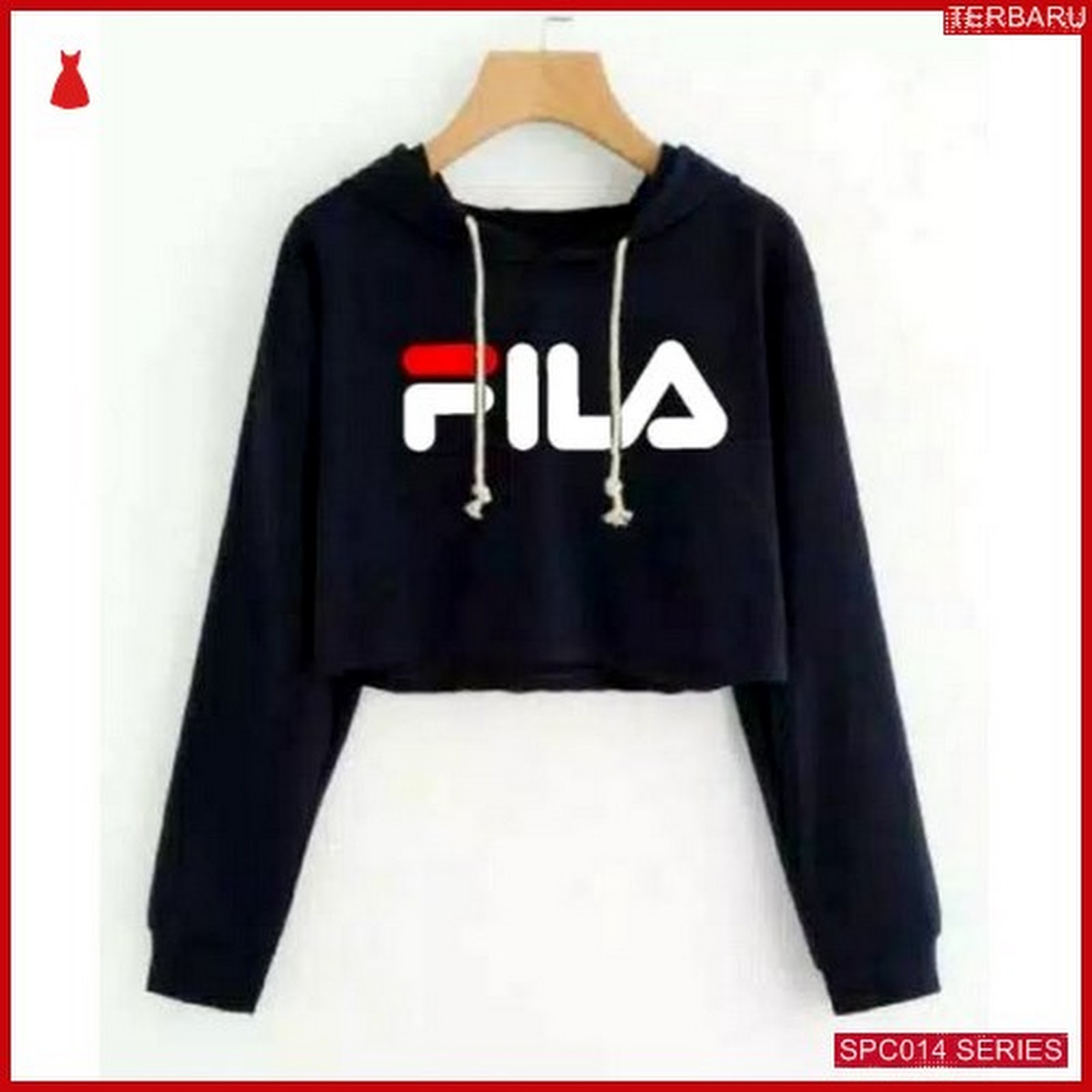 Scp014s18 Sweater Crop Fila Hodie Outerwear Wanita Bmgshop