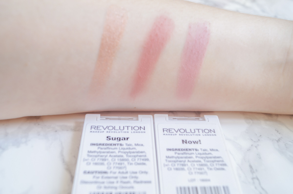 Make up Revolution Blush Now! Swatch