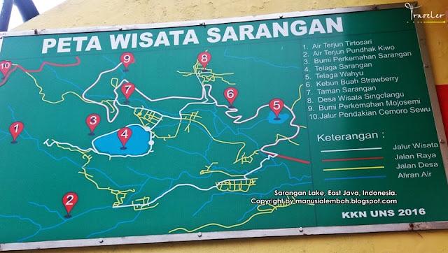 peta wisata sarangan