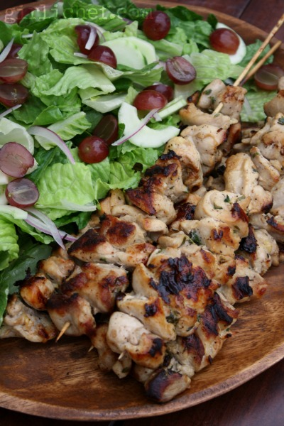 Buttermilk Chicken Kebabs w/ Chopped Salad