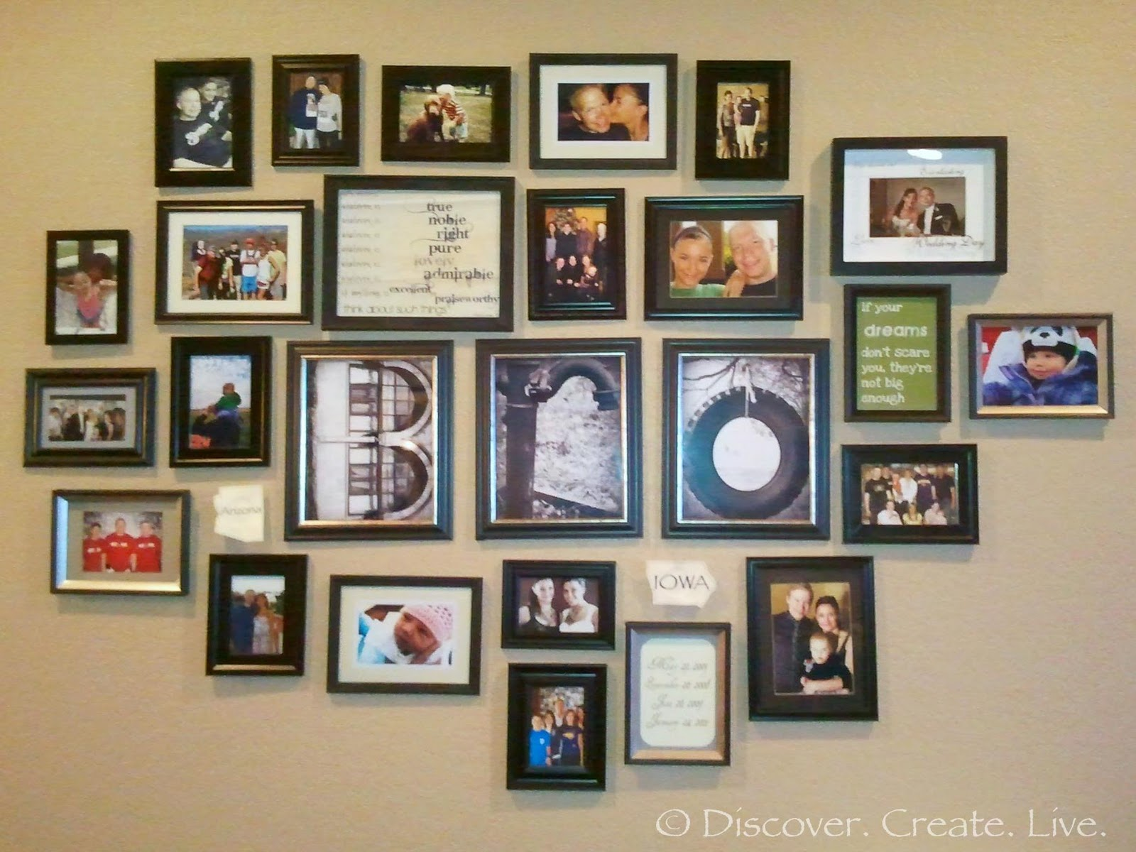 Discover. Create. Live.: Picture Wall Update & IKEA Fail