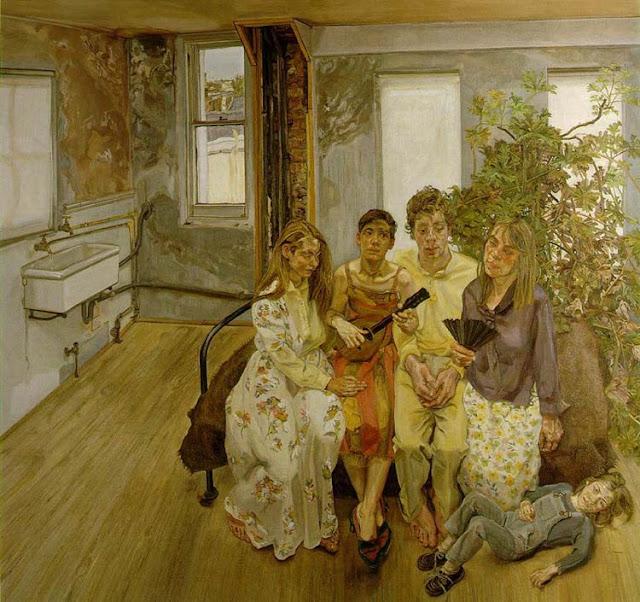 Lucian Freud, Interior (after Watteau)