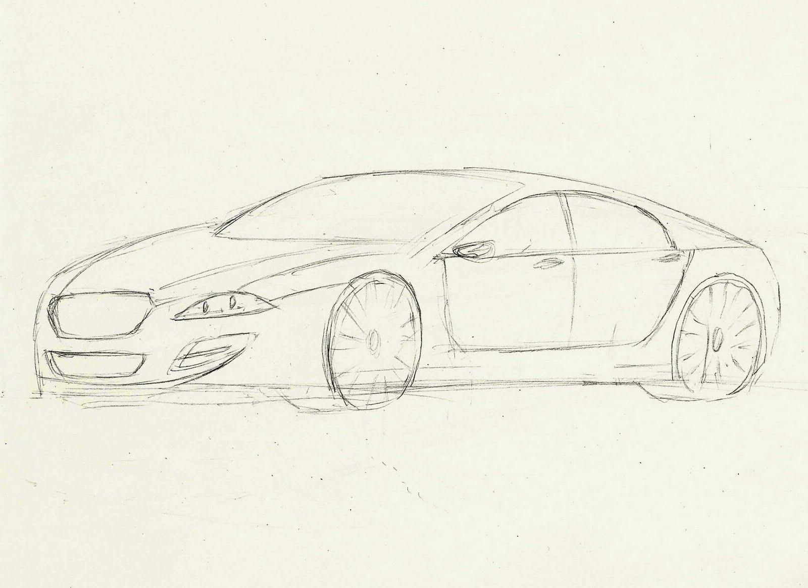 jaguar car drawing - photo #6