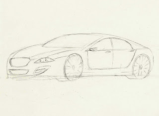 Cambrera Car Design: Jaguar XF Inspired Drawing