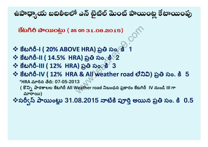 A.P Teachers transfers entitlement points in telugu2